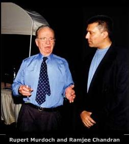 Rupert Murdoch and Ramjee Chandran
